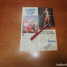 Coleccionismo de Revistas y Periódicos: CLIPPING 1986: SIGUE SIGUE SPUTNIK - PUBLICIDAD SALDEVA.. Lote 183869375