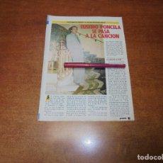 Coleccionismo de Revistas y Periódicos: CLIPPING 1986: EUSEBIO PONCELA - MARÍA JIMÉNEZ Y PEPE SANCHO. Lote 183869410