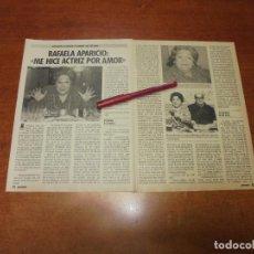 Coleccionismo de Revistas y Periódicos: CLIPPING 1986: RAFAELA APARICIO. Lote 183869423
