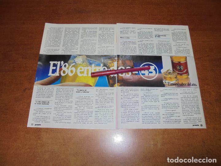 Coleccionismo de Revistas y Periódicos: CLIPPING 1986: PEDRO OSINAGA - Foto 2 - 183869428
