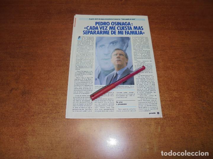 CLIPPING 1986: PEDRO OSINAGA (Coleccionismo - Revistas y Periódicos Modernos (a partir de 1.940) - Otros)