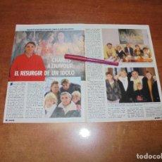 Coleccionismo de Revistas y Periódicos: CLIPPING 1986: CHARLES AZANVOUR. Lote 183869441