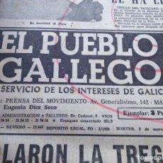 Coleccionismo de Revistas y Periódicos: DIARIO -- EL PUEBLO GALLEGO -- AÑO 1968 -- 49 EJEMPLARES ENCUADERNADOS EN UN TOMO --. Lote 183899687