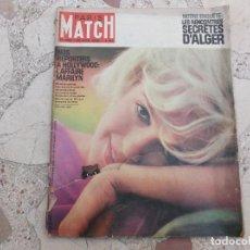Colecionismo de Revistas e Jornais: PARIS MATCH Nº 689, JUIN 1962,NOS REWPORTERS A HOLLYWOOD L´AFFAIRE MARILYN ,5 FOTOS 5 PAGINAS. Lote 183994151