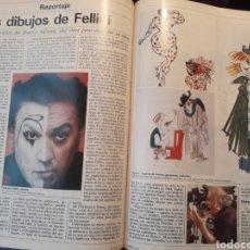 Coleccionismo de Revistas y Periódicos: LOS DIBUJOS DE FELLINI- OBRA GRAFICA DEL DIRECTOR ITALIANO - 3 PAGINAS AÑO 1983. Lote 184076121