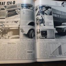 Coleccionismo de Revistas y Periódicos: EL SEAT 124-D - PRUEBA DE COCHES - DOS PAGINAS - AÑO 1971. Lote 184091393