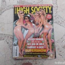 Coleccionismo de Revistas y Periódicos: HIGH SOCIETY 8/99, REVISTA EROTICA SOLO PARA ADULTOS , EN ALEMAN,. Lote 184092297