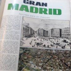 Coleccionismo de Revistas y Periódicos: GRAN MADRID - APUNTES PARA UN CHEQUEO - REPORTAJE DE 13 PÁGINAS AÑO 1971. Lote 184097012