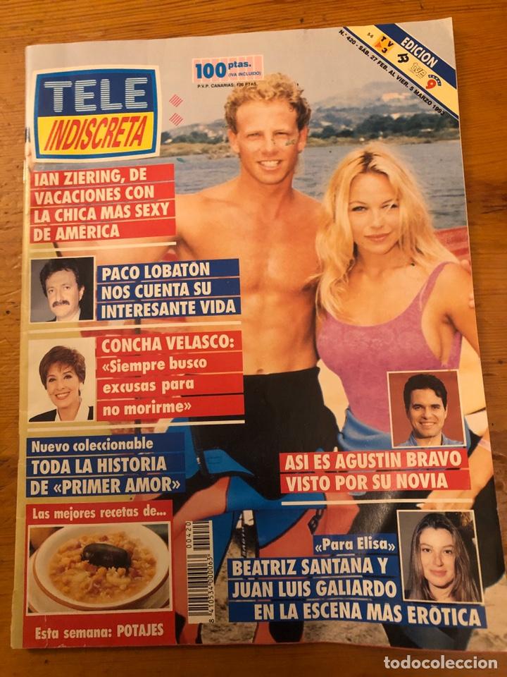TELE-INDISCRETA 420 1993 PAMELA ANDERSON IAN ZIERING CONCHA VELASCO AGUSTIN BRAVO PACO LOBATON (Coleccionismo - Revistas y Periódicos Modernos (a partir de 1.940) - Otros)