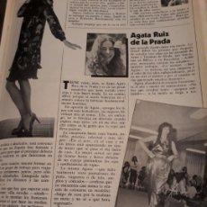 Coleccionismo de Revistas y Periódicos: AGATA RUIZ DE LA PRADA - ENTREVISTA AÑO 1981 - 2 PAGINAS .. Lote 184152157