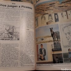 Coleccionismo de Revistas y Periódicos: EN CALTOJAR , SORIA , LOS NIÑOS JUEGAN A PICASSO - 4 PAGINAS AÑO 1981. Lote 184152223