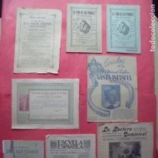 Coleccionismo de Revistas y Periódicos: RELIGION.-REVISTAS.-LECTURA DOMINICAL.-LAMPARA DEL SANTUARIO.-SANTA INFANCIA.-AÑOS 1891 HASTA 1963.. Lote 184162871