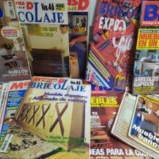 Coleccionismo de Revistas y Periódicos: LOTE DE 25 REVISTAS DE BRICOLAJE Y DECORACION , VARIAS COLECCIONES, VER FOTOS.. Lote 184407203