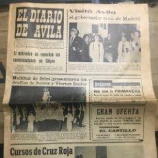 Coleccionismo de Revistas y Periódicos: EL DIARIO DE ÁVILA , SÁBADO 29 DE MARZO DE 1975. Lote 184471008