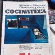 Coleccionismo de Revistas y Periódicos: ANUNCIO COCINA TEKA. Lote 184550156