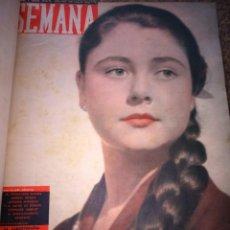 Coleccionismo de Revistas y Periódicos: REVISTA SEMANA - BELLEZAS ESPAÑOLAS -- AÑOS 50 -- 124 REVISTAS ENCUADERNADAS EN 5 TOMOS --. Lote 184560308