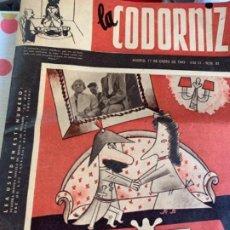 Coleccionismo de Revistas y Periódicos: LA CODORNIZ NÚMERO 85, AÑO 1943. Lote 184604408