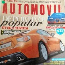 Coleccionismo de Revistas y Periódicos: LOTE 4 REVISTAS * AUTOMOVIL * OCTUBRE 2010, FEBRERO 2011,OCTUBRE 2011,NOVIEMBRE 2011.. Lote 184930342