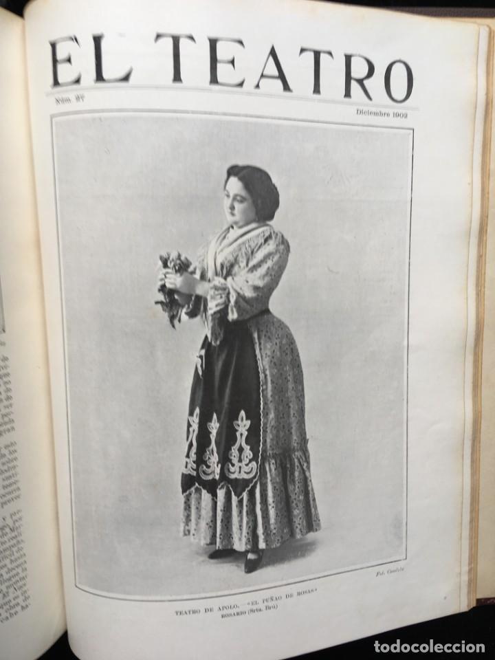 Coleccionismo de Revistas y Periódicos: REVISTA EL TEATRO - NÚMEROS 1 AL 27, AÑOS 1900 - 1901 Y 1902 - Foto 2 - 185467513