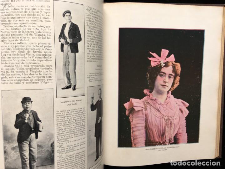 Coleccionismo de Revistas y Periódicos: REVISTA EL TEATRO - NÚMEROS 1 AL 27, AÑOS 1900 - 1901 Y 1902 - Foto 3 - 185467513