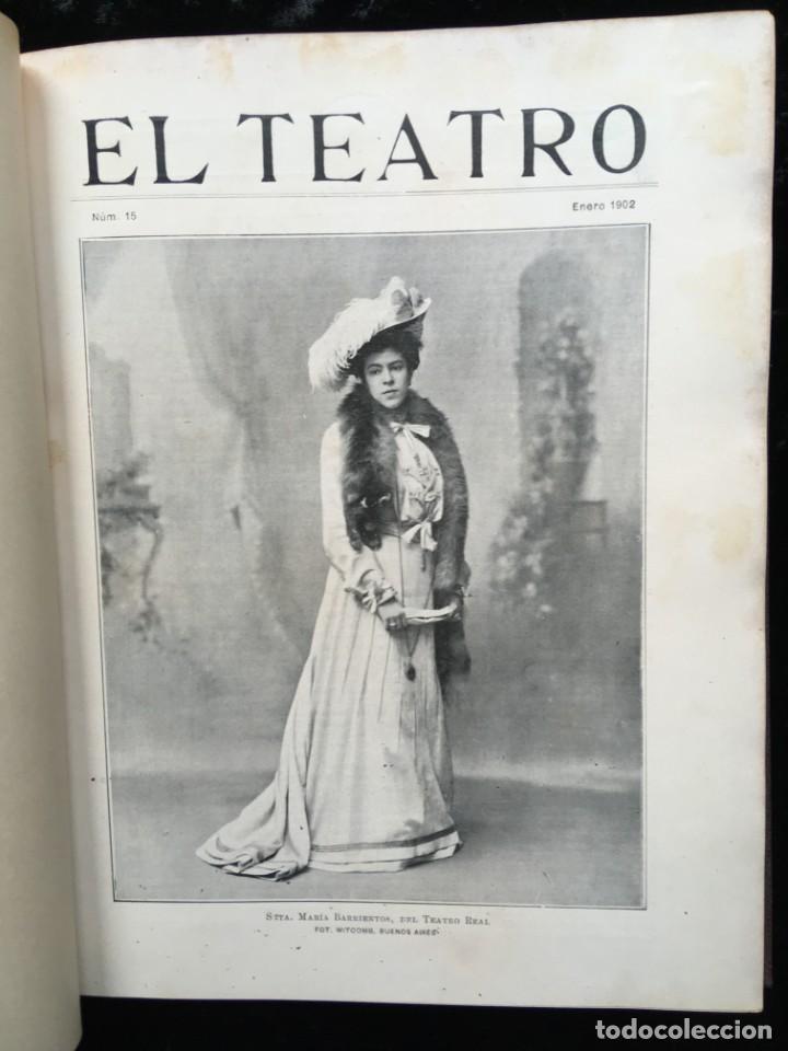Coleccionismo de Revistas y Periódicos: REVISTA EL TEATRO - NÚMEROS 1 AL 27, AÑOS 1900 - 1901 Y 1902 - Foto 4 - 185467513