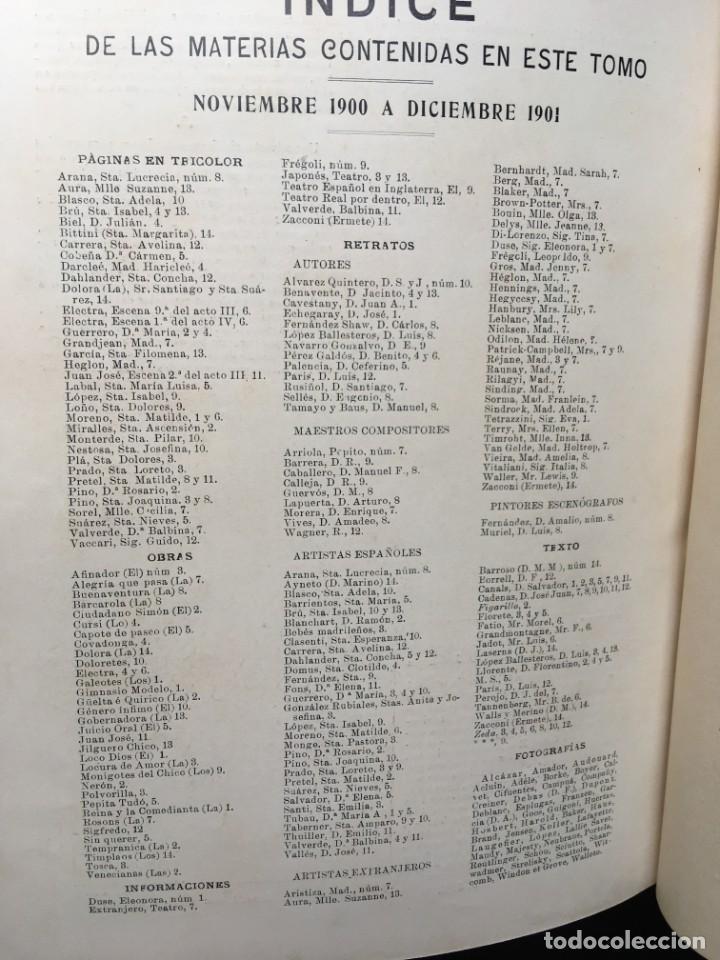 Coleccionismo de Revistas y Periódicos: REVISTA EL TEATRO - NÚMEROS 1 AL 27, AÑOS 1900 - 1901 Y 1902 - Foto 5 - 185467513