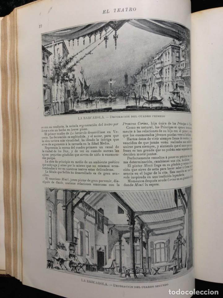 Coleccionismo de Revistas y Periódicos: REVISTA EL TEATRO - NÚMEROS 1 AL 27, AÑOS 1900 - 1901 Y 1902 - Foto 6 - 185467513