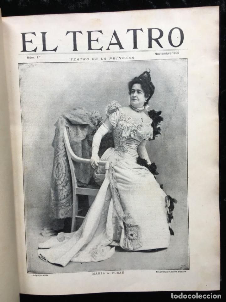 Coleccionismo de Revistas y Periódicos: REVISTA EL TEATRO - NÚMEROS 1 AL 27, AÑOS 1900 - 1901 Y 1902 - Foto 7 - 185467513