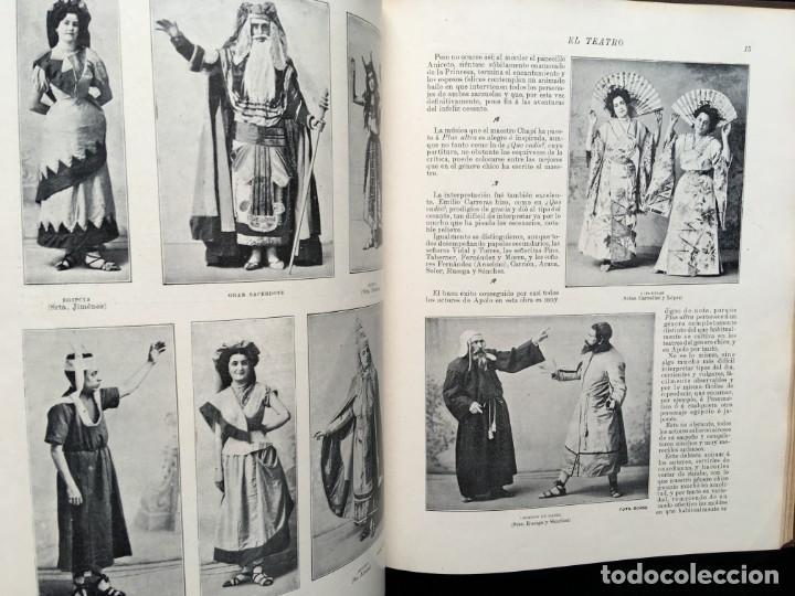 Coleccionismo de Revistas y Periódicos: REVISTA EL TEATRO - NÚMEROS 1 AL 27, AÑOS 1900 - 1901 Y 1902 - Foto 10 - 185467513