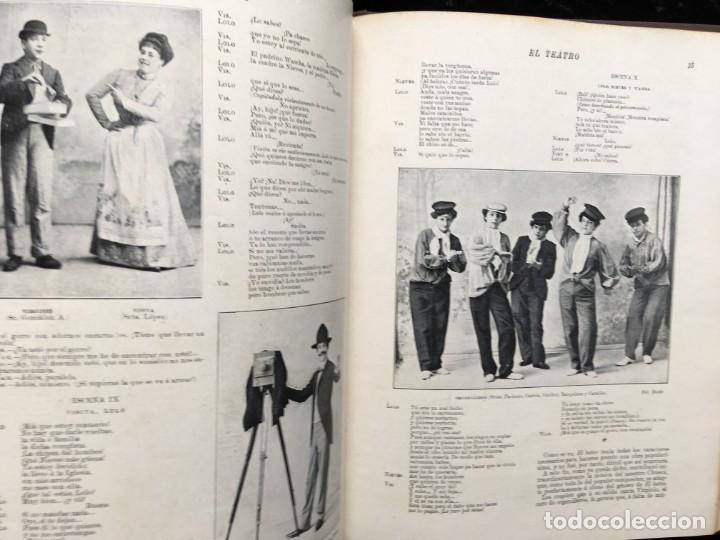 Coleccionismo de Revistas y Periódicos: REVISTA EL TEATRO - NÚMEROS 1 AL 27, AÑOS 1900 - 1901 Y 1902 - Foto 12 - 185467513