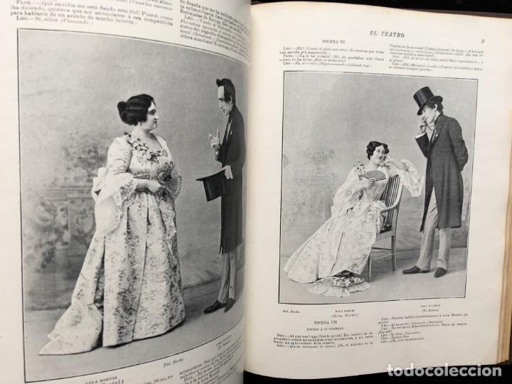 Coleccionismo de Revistas y Periódicos: REVISTA EL TEATRO - NÚMEROS 1 AL 27, AÑOS 1900 - 1901 Y 1902 - Foto 13 - 185467513