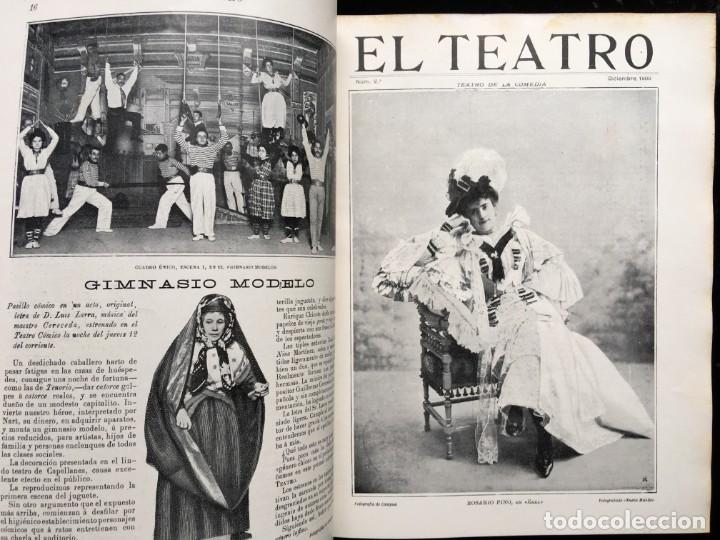 Coleccionismo de Revistas y Periódicos: REVISTA EL TEATRO - NÚMEROS 1 AL 27, AÑOS 1900 - 1901 Y 1902 - Foto 28 - 185467513