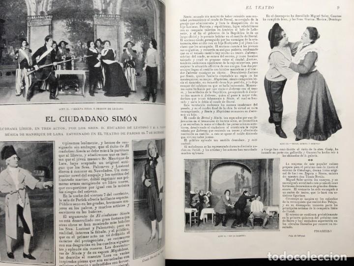 Coleccionismo de Revistas y Periódicos: REVISTA EL TEATRO - NÚMEROS 1 AL 27, AÑOS 1900 - 1901 Y 1902 - Foto 29 - 185467513