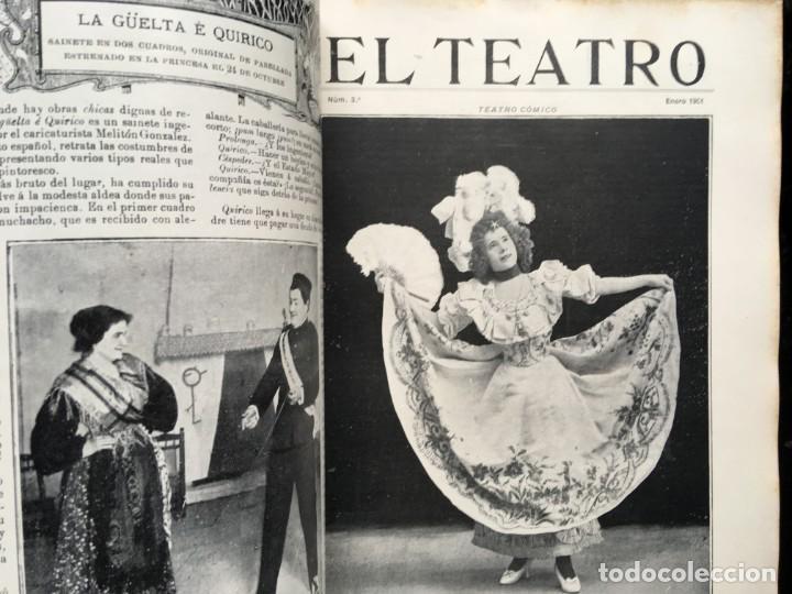 Coleccionismo de Revistas y Periódicos: REVISTA EL TEATRO - NÚMEROS 1 AL 27, AÑOS 1900 - 1901 Y 1902 - Foto 30 - 185467513