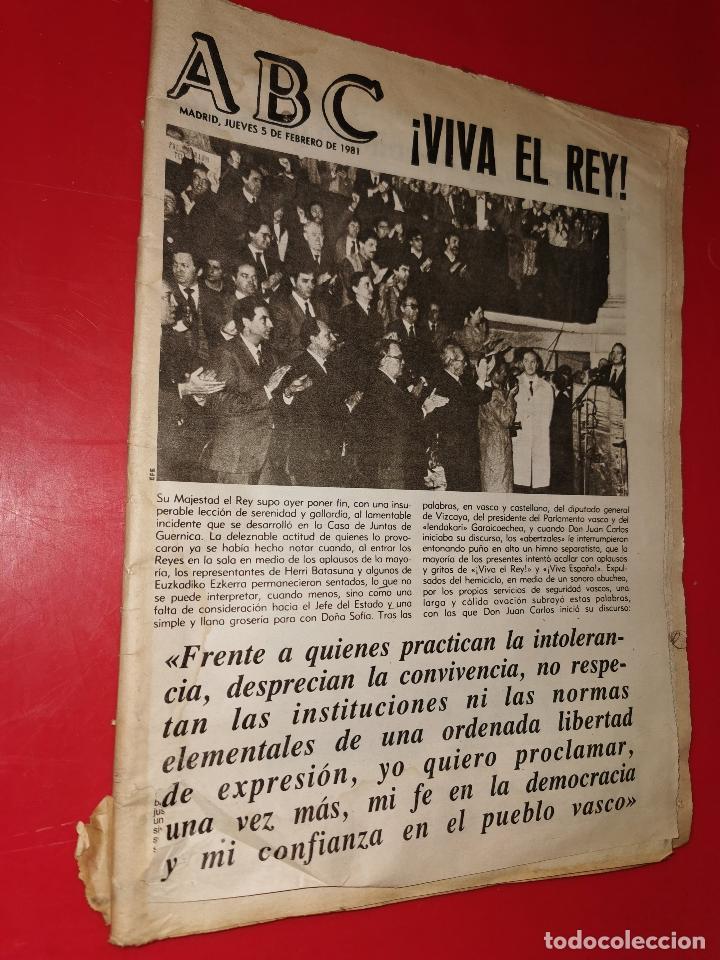 ABC 5 FEBRERO 1981 (Coleccionismo - Revistas y Periódicos Modernos (a partir de 1.940) - Otros)