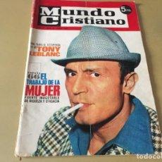 Coleccionismo de Revistas y Periódicos: REVISTA MUNDO CRISTIANO ABRIL 1966 TONY LEBLANC . Lote 186046416