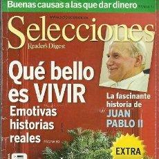 Coleccionismo de Revistas y Periódicos: REVISTA READERS' DIGEST SELECCIONES JUAN PABLO II. Lote 186057687