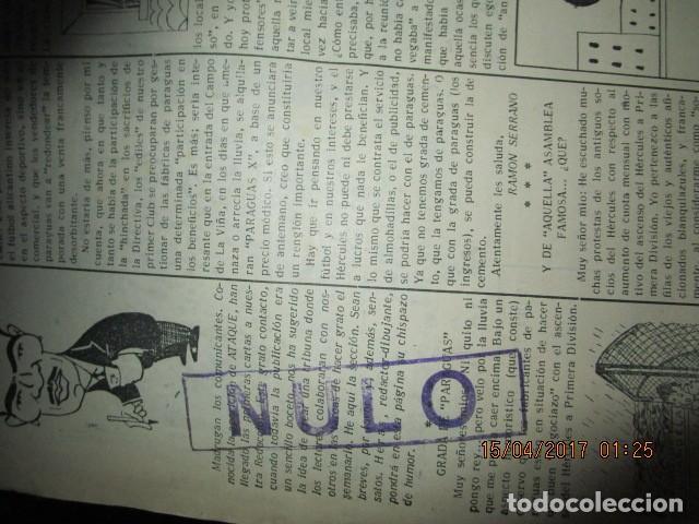 Coleccionismo de Revistas y Periódicos: ATAQUE 1957 3 RAROS PERIODICOS antiguos FUTBOL HERCULES DE alicante DEPORTIVO Nº 1 - 2- 7.- - Foto 47 - 48632104