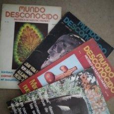 Coleccionismo de Revistas y Periódicos: LOTE 4 REVISTAS MUNDO DESCONOCIDO. 1976.. Lote 186226383