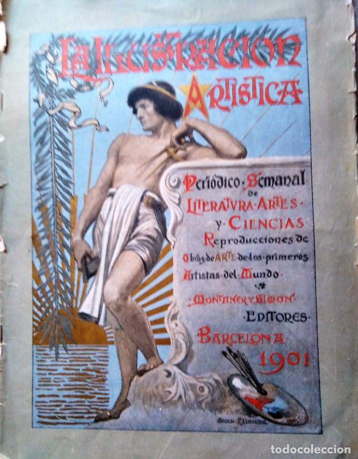 LA ILUSTRACION ARTISTICA NUMERO DE AÑO NUEVO 1901 DEDICADO AL 2 DE MAYO (Coleccionismo - Revistas y Periódicos Antiguos (hasta 1.939))