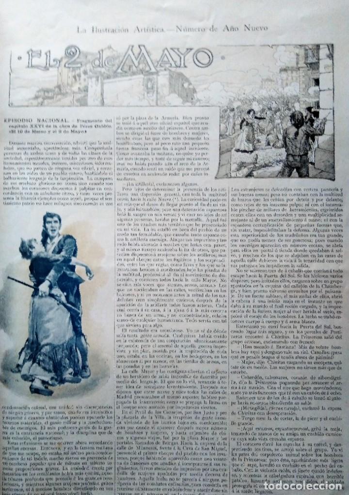 Coleccionismo de Revistas y Periódicos: LA ILUSTRACION ARTISTICA NUMERO DE AÑO NUEVO 1901 DEDICADO AL 2 DE MAYO - Foto 2 - 186300638