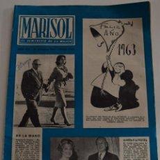 Coleccionismo de Revistas y Periódicos: MARISOL EL SEMANARIO DE LA MUJER Nº 457 -AÑO 1962 -BRIGITTE BARDOT - LIZ TAYLOR - JACQUELINE KENNEDY. Lote 186388252