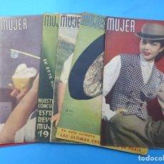 Coleccionismo de Revistas y Periódicos: MUJER, 6 ANTIGUAS REVISTAS, AÑOS 1946-1947-1948 - VER FOTOS ADICIONALES. Lote 186420447