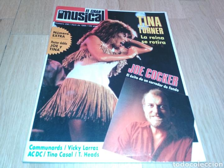 EL GRAN MUSICAL 290. TINA TURNER, SARA MONTIELR, VICKY LARRAZ, ACDC, SADE, LOQUILLO, TINO CASAL (Coleccionismo - Revistas y Periódicos Modernos (a partir de 1.940) - Otros)
