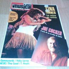 Coleccionismo de Revistas y Periódicos: EL GRAN MUSICAL 290. TINA TURNER, SARA MONTIELR, VICKY LARRAZ, ACDC, SADE, LOQUILLO, TINO CASAL. Lote 186462146