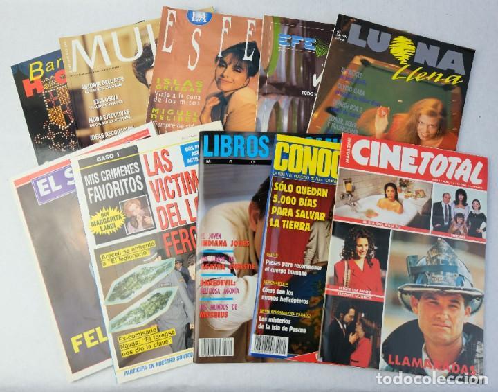 LOTE 10 REVISTAS NÚMEROS 1 DEL AÑO 1991-REVISTA MUJER, CINE TOTAL, LUNA LLENA, LA ESFERA, ETC. (Coleccionismo - Revistas y Periódicos Modernos (a partir de 1.940) - Otros)