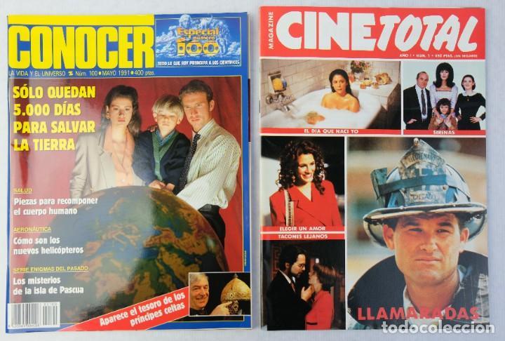 Coleccionismo de Revistas y Periódicos: Lote 10 revistas números 1 del año 1991-Revista Mujer, Cine Total, Luna Llena, La Esfera, etc. - Foto 6 - 187113550