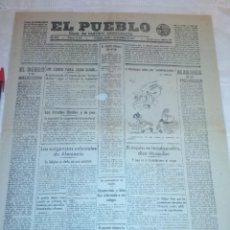 Coleccionismo de Revistas y Periódicos: DIARIO EL PUEBLO (PARTIDO SINDICALISTA, EDITADO EN VALENCIA) 2 DE DICIEMBRE DE 1937 (GUERRA CIVIL). Lote 187123180