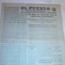 Coleccionismo de Revistas y Periódicos: DIARIO EL PUEBLO (PARTIDO SINDICALISTA, EDITADO EN VALENCIA) 1 DE DICIEMBRE DE 1937 (GUERRA CIVIL). Lote 187123271