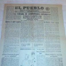 Coleccionismo de Revistas y Periódicos: DIARIO EL PUEBLO (PARTIDO SINDICALISTA, EDITADO EN VALENCIA) 3 DE DICIEMBRE DE 1937 (GUERRA CIVIL). Lote 187123353